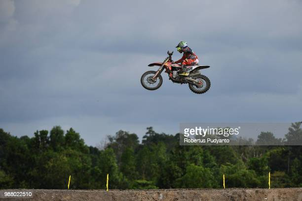PANGKALPINANG BANGKA INDONESIA JUNE 30 Antonio Cairoli of Red Bull KTM Factory Racing Team in action during MXGP Qualifying race on day one of the...