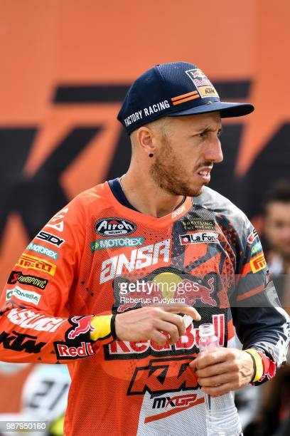 PANGKALPINANG BANGKA INDONESIA JUNE 30 Antonio Cairoli of Red Bull KTM Factory Racing Team walks during MXGP Qualifying race on day one of the FIM...