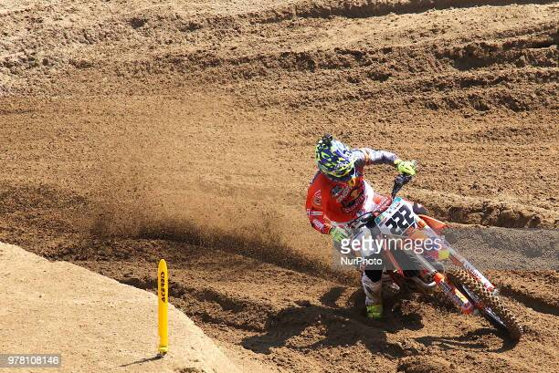 Antonio Cairoli of Red Bull KTM Factory Racing team wins the Fiat Professional MXGP of Lombardia race at Ottobiano Motorsport circuit on June 17 2018...