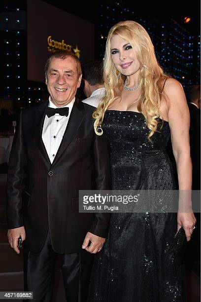 Antonio Caliendo and Alessandra Canale attend the Golden Foot 2014 Awards Ceremony at Sporting Club on October 13 2014 in MonteCarlo Monaco