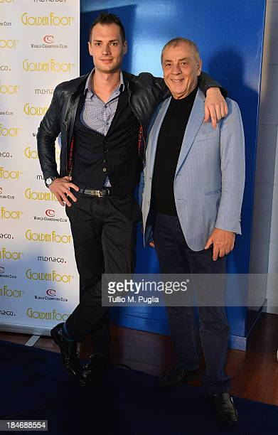 Antonio Caliendo and Michele Caliendo pose for photographers at MonteCarlo Bay prior to the 2013 Golden Foot Award on October 15 2013 in MonteCarlo...