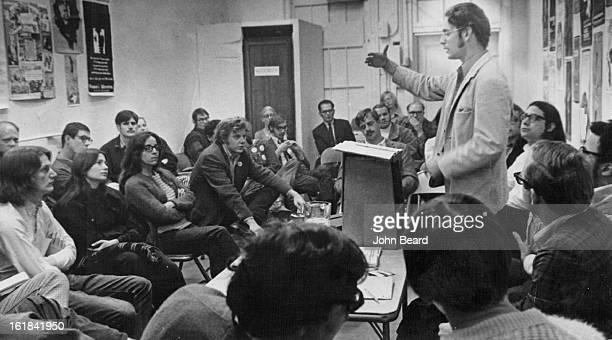 NOV 3 1970 NOV 7 1970 NOV 8 1970 Antonio Camejo Describes The Work Of La Raza Unida In Texas For Denver Audience He was Socialist Workers Pary...