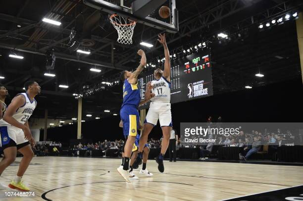Antonio Campbell of the Lakeland Magic puts up shot against the Santa Cruz Warriors during the NBA G League Winter Showcase on December 20, 2018 at...