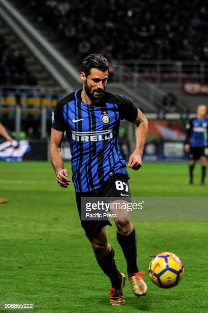 Antonio Candreva of FC Inter during Serie A football FC Inter versus AS Roma FC inter and AS Roma finish the match 11