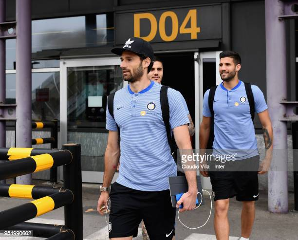 Antonio Candreva of FC Internazionale departs to Udine on May 5 2018 in Milan Italy