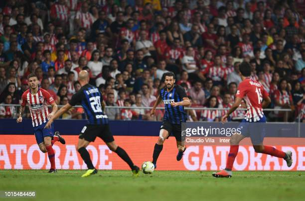 Antonio Candreva of FC Internazionale in action during the International Champions Cup 2018 match between Atletico Madrid and FC Internazionale at...