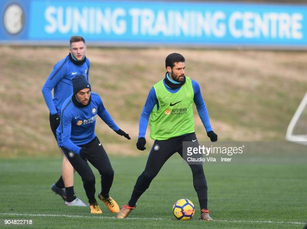 Antonio Candreva of FC Internazionale in action during the FC Internazionale training session at Suning Training Center at Appiano Gentile on January...