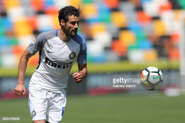 Antonio Candreva of FC Internazionale in action during the serie A match between Udinese Calcio and FC Internazionale at Stadio Friuli on May 6 2018...