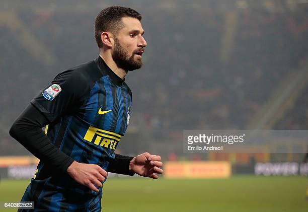 Antonio Candreva of FC Internazionale Milano looks on during the Serie A match between FC Internazionale and Pescara Calcio at Stadio Giuseppe Meazza...