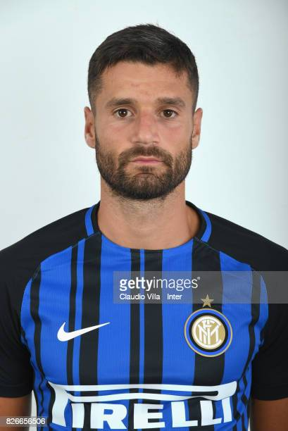 Antonio Candreva of FC Internazionale poses on July 10 2017 in Reischach near Bruneck Italy