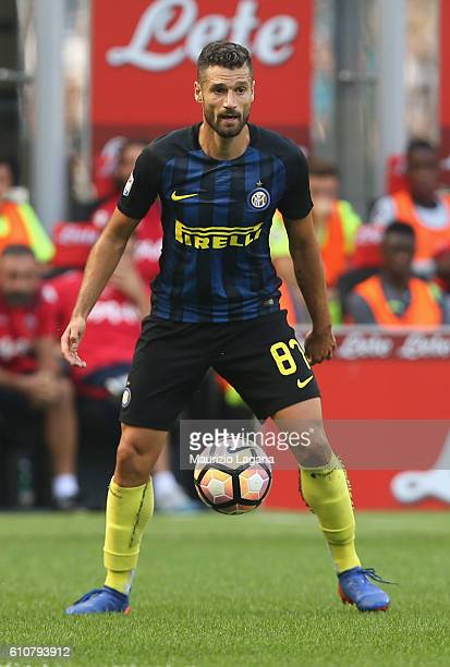 Antonio Candreva of Inter during the Serie A match between FC Internazionale and Bologna FC at Stadio Giuseppe Meazza on September 25 2016 in Milan...
