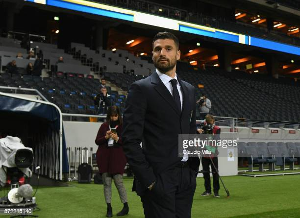 Antonio Candreva of Italy looks ok during Italy walk around at Friends Arena on November 9 2017 in Stockholm Sweden