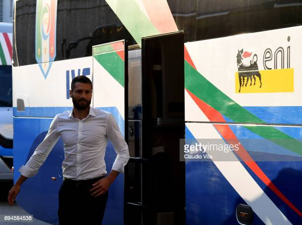 Antonio Candreva of Italy looks on during Italy walk around at Stadio Friuli on June 10 2017 in Udine Italy