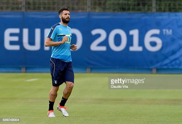Antonio Candreva of Italy looks on during the training session at 'Bernard Gasset' Training Center on June 10 2016 in Montpellier France