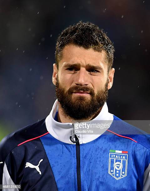 Antonio Candreva of Italy prior to the Euro 2016 Qualifier match between Bulgaria and Italy at Vasil Levski National Stadium on March 28 2015 in...