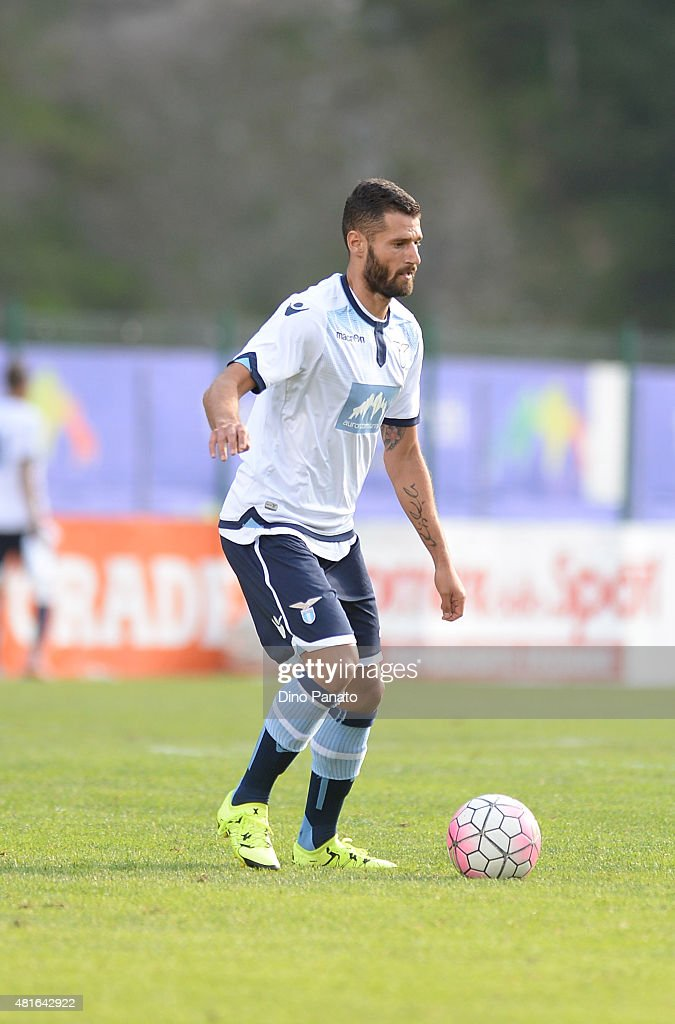 Antonio Candreva of SS Lazio in action during the preseason friendly match between SS Lazio and Vicenza Calcio on July 18, 2015 in Auronzo near Cortina d'Ampezzo, Italy.