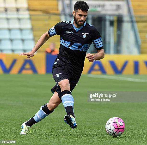 Antonio Candreva of SS Lazio in action during the Serie A match between Carpi FC and SS Lazio at Alberto Braglia Stadium on May 8 2016 in Modena Italy
