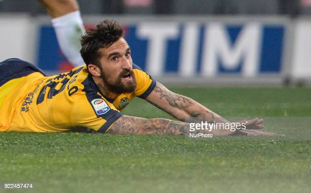 Antonio Caracciolo during the Italian Serie A football match between SS Lazio and Hellas Verona at the Olympic Stadium in Rome on february 19 2018