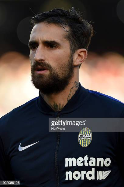 Antonio Caracciolo of Hellas Verona FC during the Serie A TIM match between SSC Napoli and Hellas Verona FC at Stadio San Paolo Naples Italy on 6...