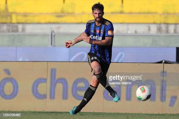 Antonio Caracciolo of SC Pisa in action during the serie B match between SC Pisa and AS Cittadella at Arena Garibaldi on July 3, 2020 in Pisa, Italy.