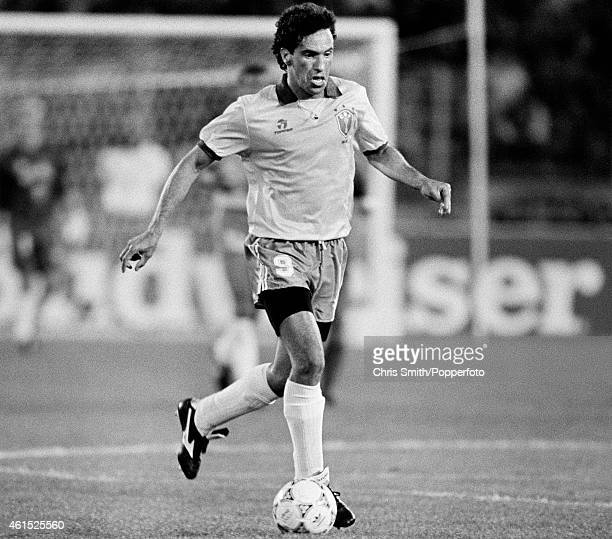 Antonio Careca in action for Brazil during the FIFA World Cup match between Brazil and Sweden in Turin 10th June 1990 Brazil won 21