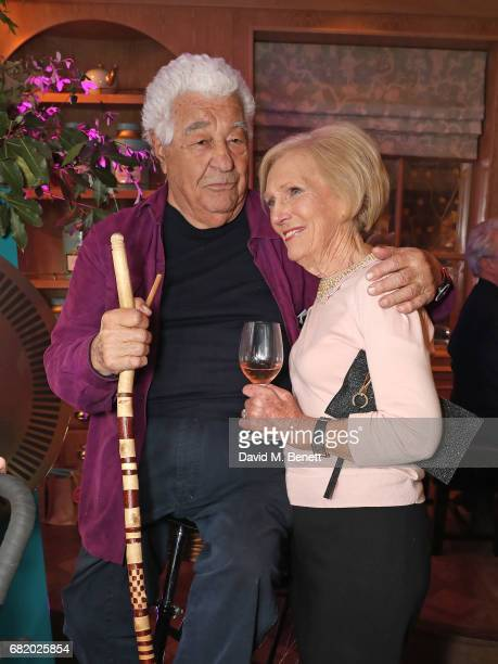 Antonio Carluccio an d Mary Berry at the fifth annual Fortnum Mason Food and Drink Awards on May 11 2017 in London England