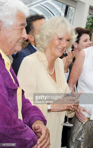 Antonio Carluccio and Camilla Duchess of Cornwall attend as Tom Parker Bowles launches his new cookbook 'Let's Eat Recipes From My Kitchen Notebook'...