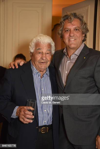 Antonio Carluccio and Giorgio Locatelli attend the launch of chef Giorgio Locatelli's new book 'Made At Home The Food I Cook For The People I Love'...