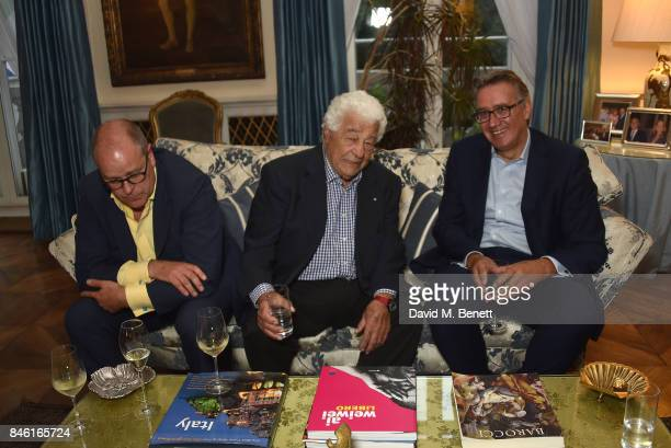 Antonio Carluccio attends the launch of chef Giorgio Locatelli's new book 'Made At Home The Food I Cook For The People I Love' at the Italian Embassy...