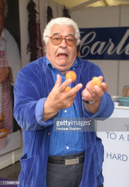 Antonio Carluccio during Taste of London Launch Party at Regent's Park in London Great Britain