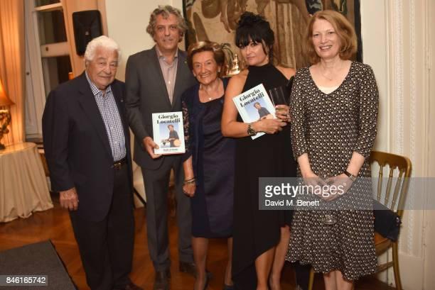 Antonio Carluccio Giorgio Locatelli guest Plaxy Locatelli and guest attend the launch of chef Giorgio Locatelli's new book Made At Home The Food I...