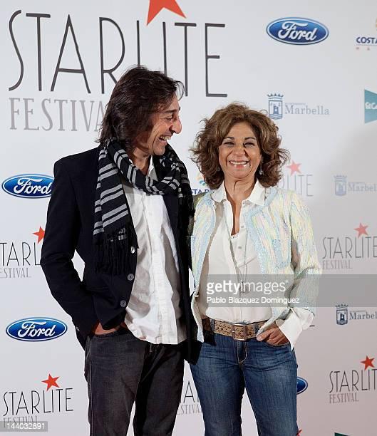 Antonio Carmona and Lolita attend Starlite Festival presentation at El Gran Casino de Madrid on May 8 2012 in Madrid Spain