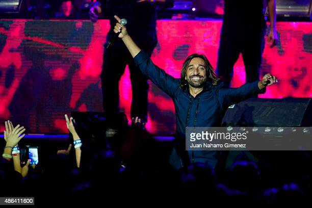 Antonio Carmona performs on stage during 'Cadena Dial' 25th Anniversary concert at Barclaycard Center on September 3 2015 in Madrid Spain