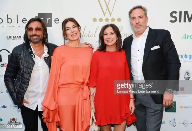 Antonio Carmona Raquel Revuelta and Isabel Gemio attend Hotel Wellington Summer Party on June 13 2019 in Madrid Spain