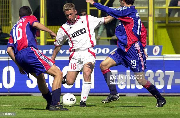 Antonio Cassano of Bari in action during the Serie A 27th Round League match between Bologna and Bari played at the Renato Dall''Ara Stadium Bologna...