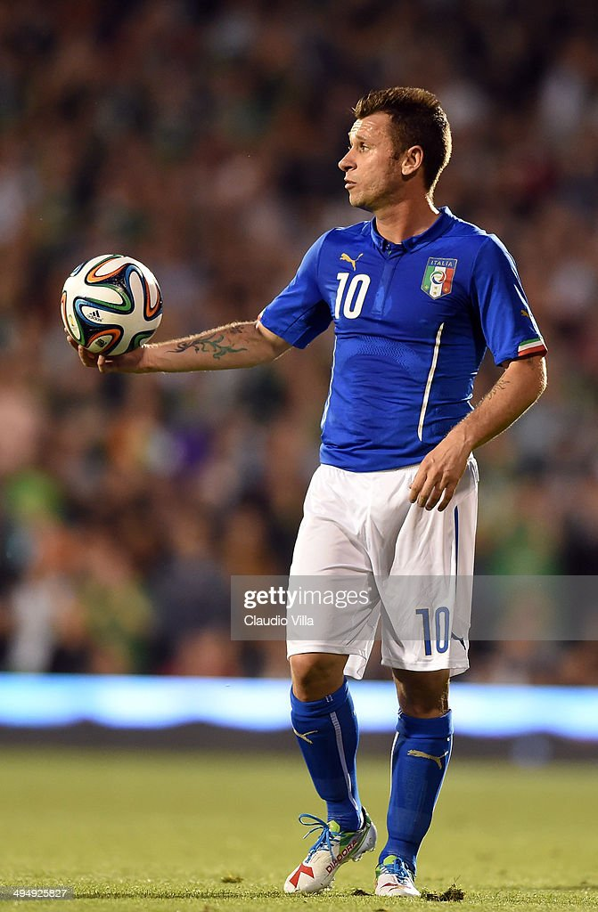 Antonio Cassano of Italy during the International Friendly match between Italy and Ireland at Craven Cottage on May 30, 2014 in London, England.