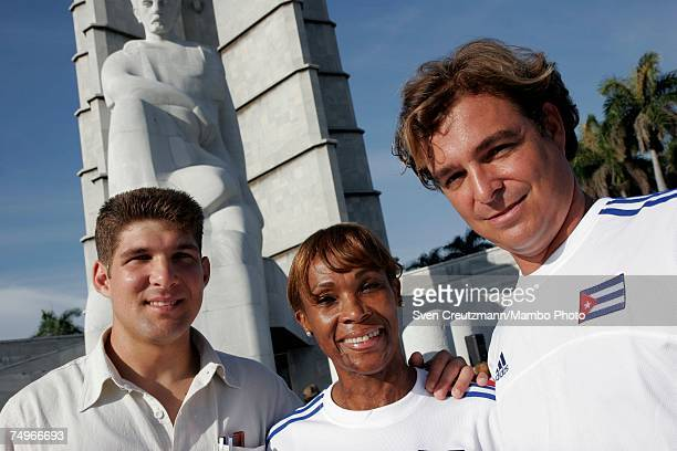 Antonio Castro son of Cuban President Fidel Castro and a doctor with the Cuban PanAmerican Games delegation Ana Fidelia Quirot former double world...