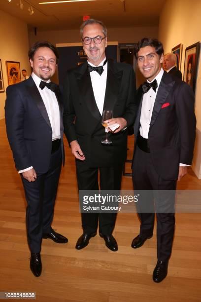 Antonio Cipollone Carlo Traglio and Fabrizio De Falco attend VHERNIER 20 Years Of Calla Dinner In Support Of BCRF at Sotheby's on October 17 2018 in...