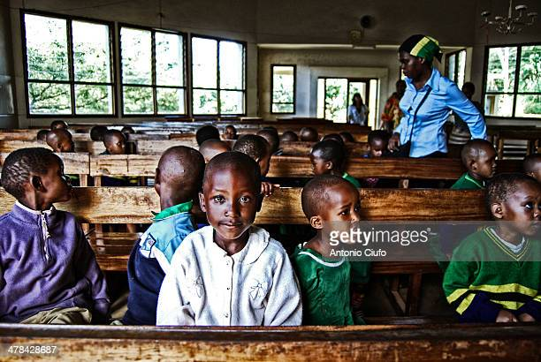CONTENT] Singing lessons for children and volunteers in a Baptist church Moshi Tanzania April 15 2011 © Antonio Ciufo