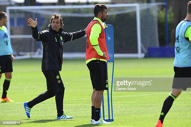 Antonio Conte at Chelsea Training Ground on July 13 2016 in Cobham England