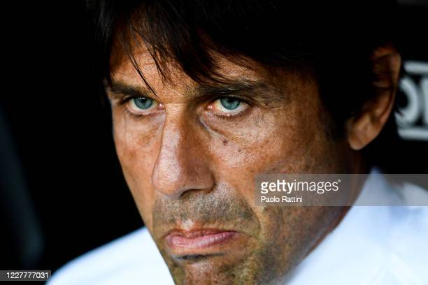 Antonio Conte coach of Inter before the Serie A match between Genoa CFC and FC Internazionale at Stadio Luigi Ferraris on July 25, 2020 in Genoa,...