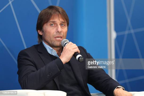 Antonio Conte during the Golden Bench award at Centro Tecnico Federale di Coverciano on November 12 2018 in Florence Italy