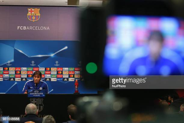 Antonio Conte during the press conference prior to the UEFA Champions League match between FC Barcelona and Chelsea on 13th March 2018 in Barcelona...
