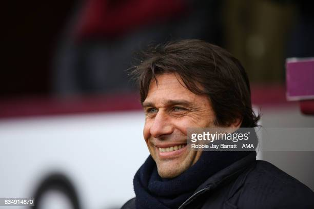 Antonio Conte head coach / manager of Chelsea during the Premier League match between Burnley and Chelsea at Turf Moor on February 12 2017 in Burnley...