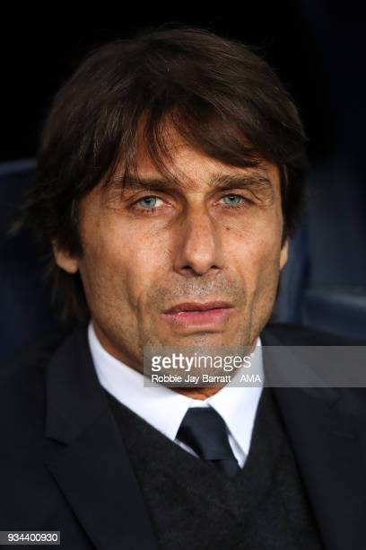 Antonio Conte head coach / manager of Chelsea during the UEFA Champions League Round of 16 Second Leg match FC Barcelona and Chelsea FC at Camp Nou...