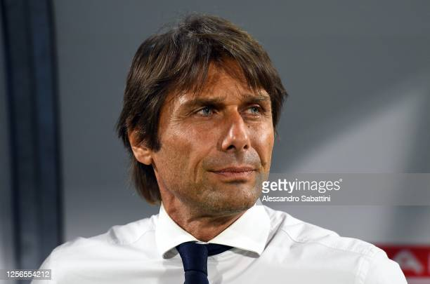 Antonio Conte head coach of FC Internazionale looks on during the Serie A match between SPAL and FC Internazionale at Stadio Paolo Mazza on July 16...