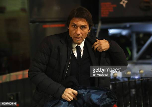 Antonio Conte Manager of Chelsea arrives at the stadiium prior to kick off during the Premier League match between Sunderland and Chelsea at Stadium...