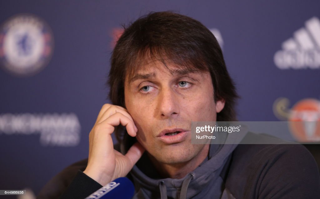 Antonio Conte, manager of Chelsea during a press conference : News Photo