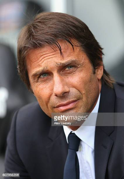 Antonio Conte manager of Chelsea looks on prior to the Premier League match between Swansea City and Chelsea at Liberty Stadium on September 11 2016...