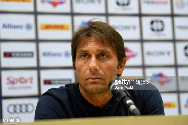Antonio Conte of Chelsea during a press conference at Singapore National Stadium on July 24, 2017 in Singapore.